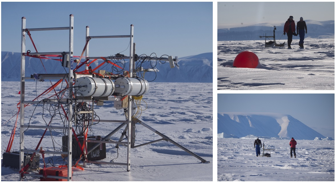 Ice surface Temperature measurements taking place in Qaanaaq, Greenland